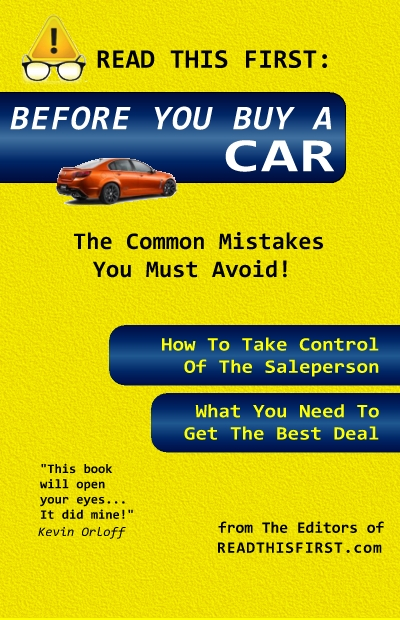 Before You Buy a Car - Read This First